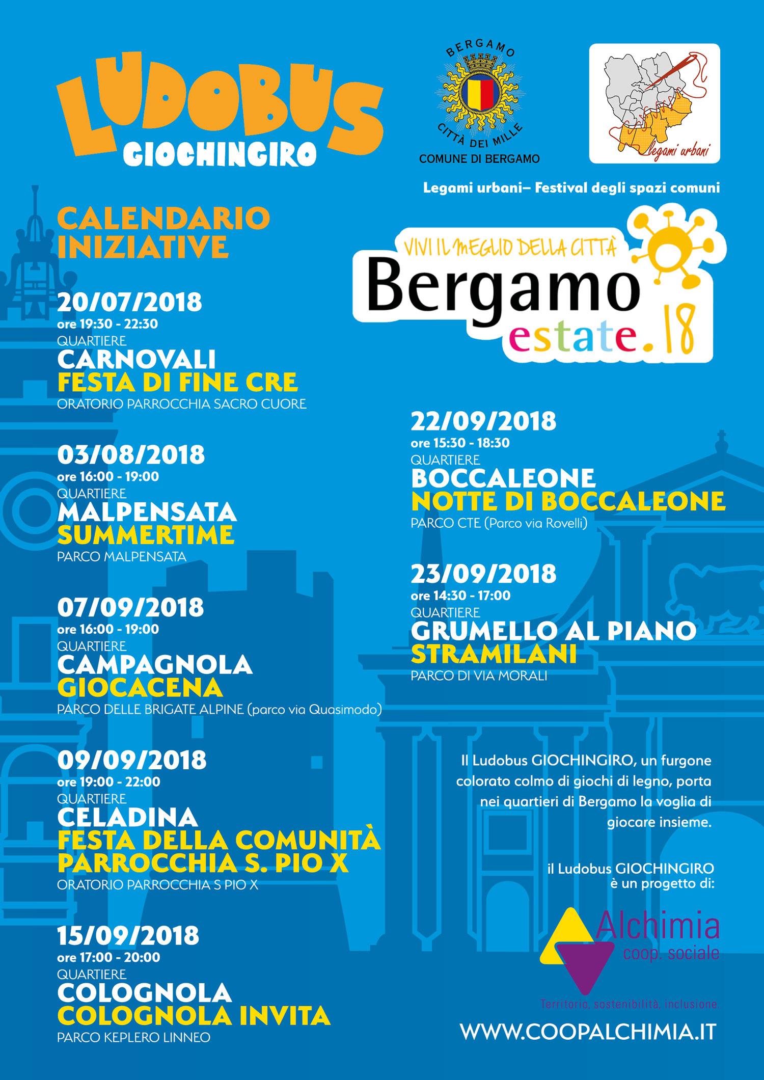 Apri Il Calendario.Alchimia Coop Sociale News Bergamo Estate Ludobus